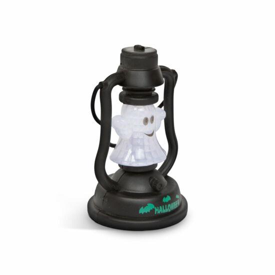 Halloween-i LED lámpa kacagás hangeffekttel (szellem, elemes)