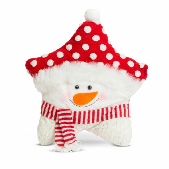 Karácsonyi 3D díszpárna, hóember (35 x 42 cm)