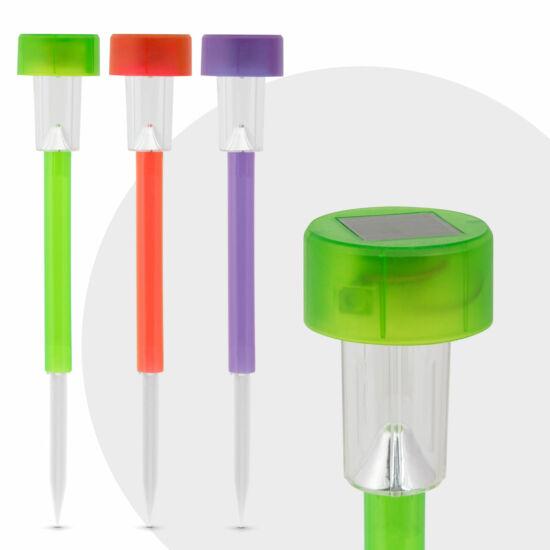 Led-es napelemes lámpa (színes, fényes)