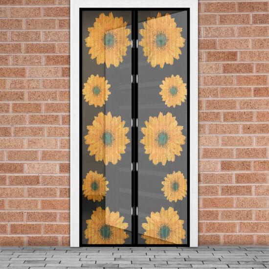 Mágneses szúnyogháló függöny ajtóra (100 x 210 cm,  napraforgós)