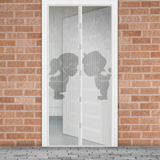 Mágneses szúnyogháló függöny ajtóra (100 x 210 cm, Fiú + Lány)