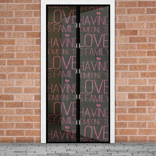 Mágneses szúnyogháló függöny ajtóra (100 x 210 cm, love)