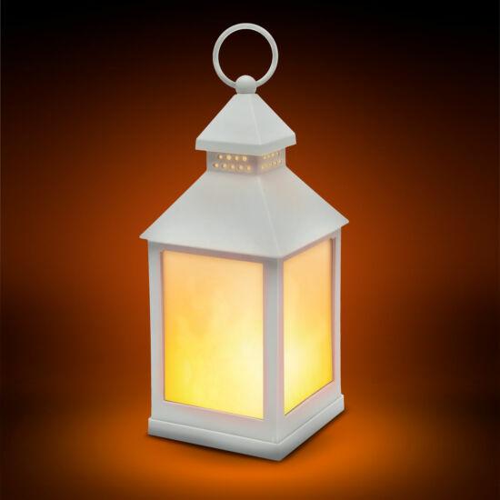 Lángokat imitáló elemes LED lámpa (fehér)