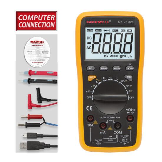 Digitális multiméter 5az1-ben USB-s PC kapcsolattal