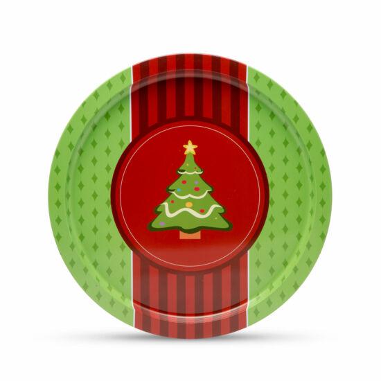 Fém tálca karácsonyfa (31 cm)