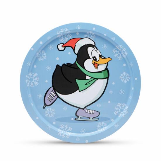 Fém tálca pingvin (31 cm)