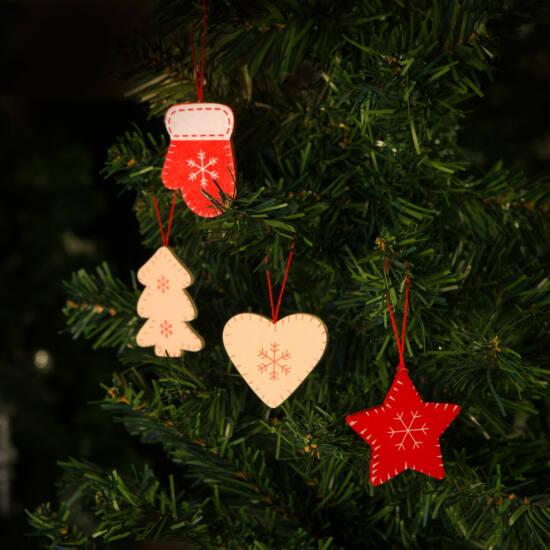 Karácsonyfadísz szett (5 cm, 12 darabos csomag)