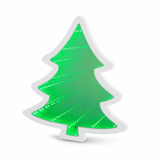LED varázstükör mini (karácsonyfa, elemes)