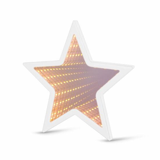 LED varázstükör mini (csillag, elemes)