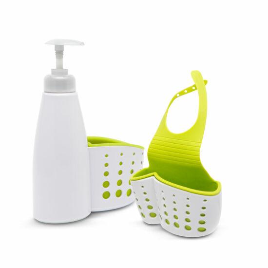 Fürdőszobai / konyhai eszköztartó (pumpás flakonnal)