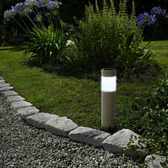 LED-es szolár lámpa (kőmintás, műanyag)
