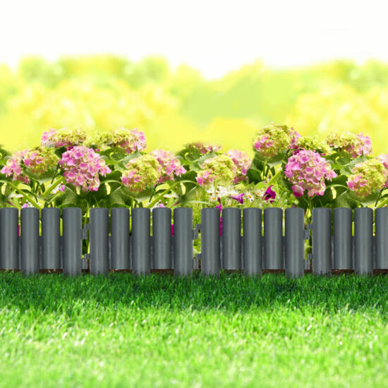 Virágágyás / gyepszegély (4 darabos csomag, 28 x 24 cm, műanyag)