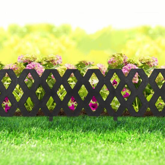 Virágágyás szegély / kerítés (60 x 22 cm, fekete)