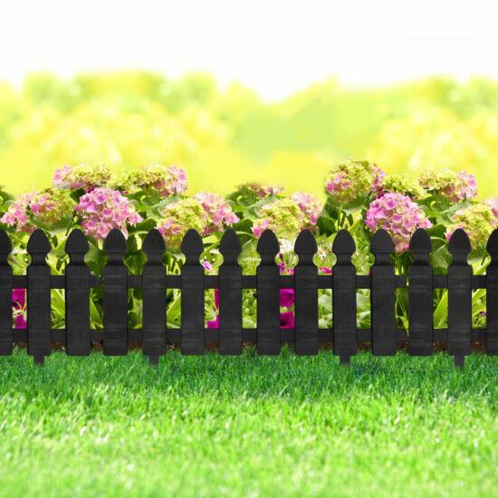 Virágágyás szegély / kerítés (51 x 30 cm, fekete)