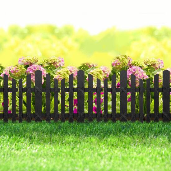 Virágágyás szegély / kerítés (30 x 36 cm, fekete)