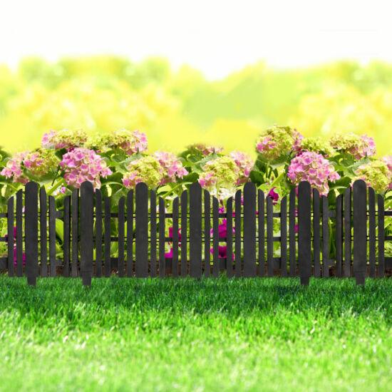 Virágágyás szegély / kerítés (56 x 20 cm, fekete)