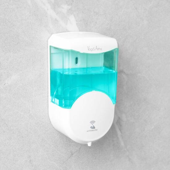 Szenzoros szappanadagoló - 600 ml - fali - elemes - fehér