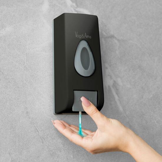 Szappanadagoló - kézzel működtethető - 350 ml - fali - fekete