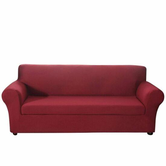 Háromszemélyes kanapévédő (sötétpiros)