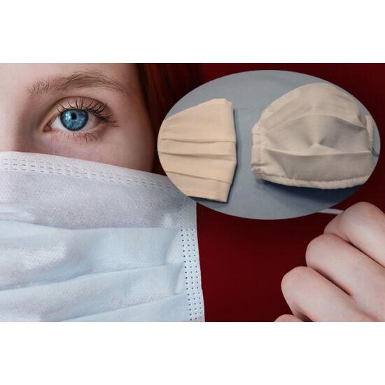 Mosható textil szájmaszk (kétrétegű, 100% pamut)