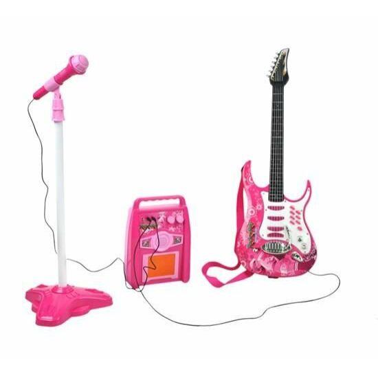 Elektromos gitár szett (rózsaszín)