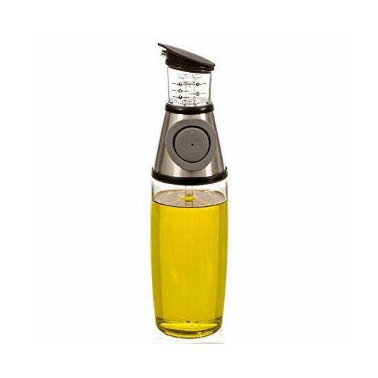 Mérőpoharas olaj, ecet tároló nyomógombos adagolóval