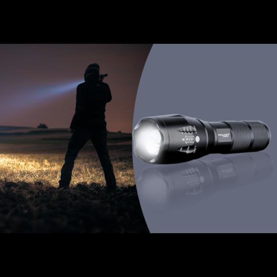 Víz- és ütésálló LED zseblámpa