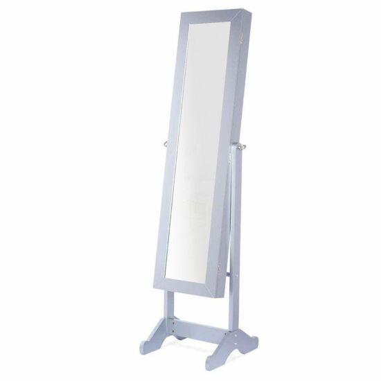 Tükrös ékszertartó szekrény (fehér)
